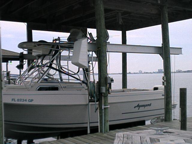 B. S.S. 6000 lb. Aluminum Cradle Lift - Side Mount