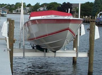 16,000 Lb. Beamless Boat Lift (Silver)