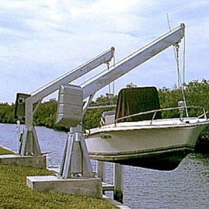 5500 lb Capacity Seawall Mount Electric Davit